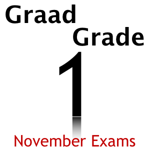 Grade 1 Graad 1 November Exams and Memos