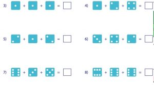Count (Plus) with dices in Maths Term 1 - Grade 1
