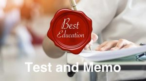 Test and Memo Best Education