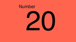 Grade 1 the number 20